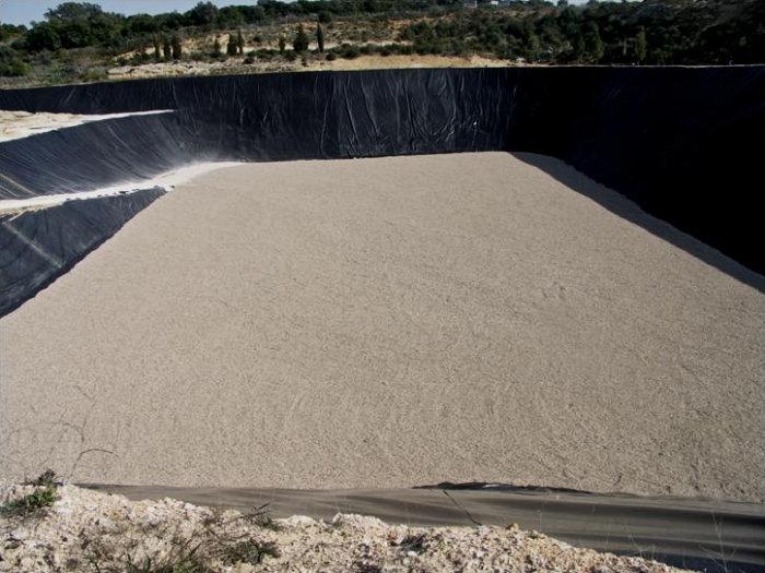 Vista parcial do aterro de Resíduos Sólidos Industriais.