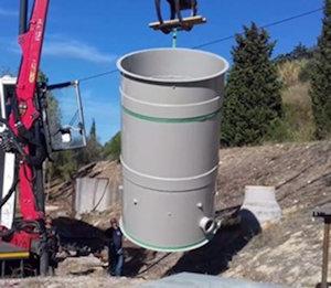 3.  Descarga e colocação do depósito / reator